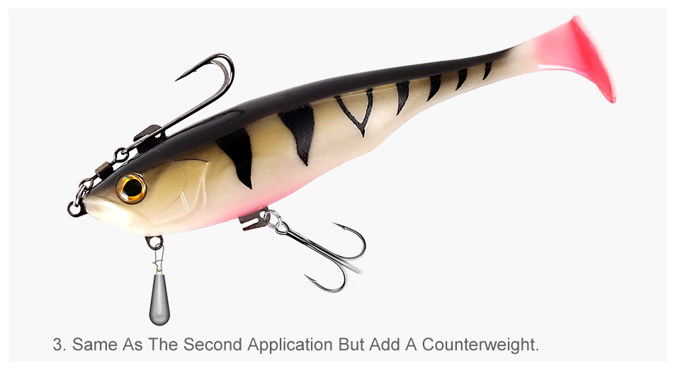 Kingdom Hot TSUNAMI Soft Baits Swim Shad Double Hook Fishing Lures 170mm 55g Good Action Saltwater Swimbaits Fishing Soft Lure (5)