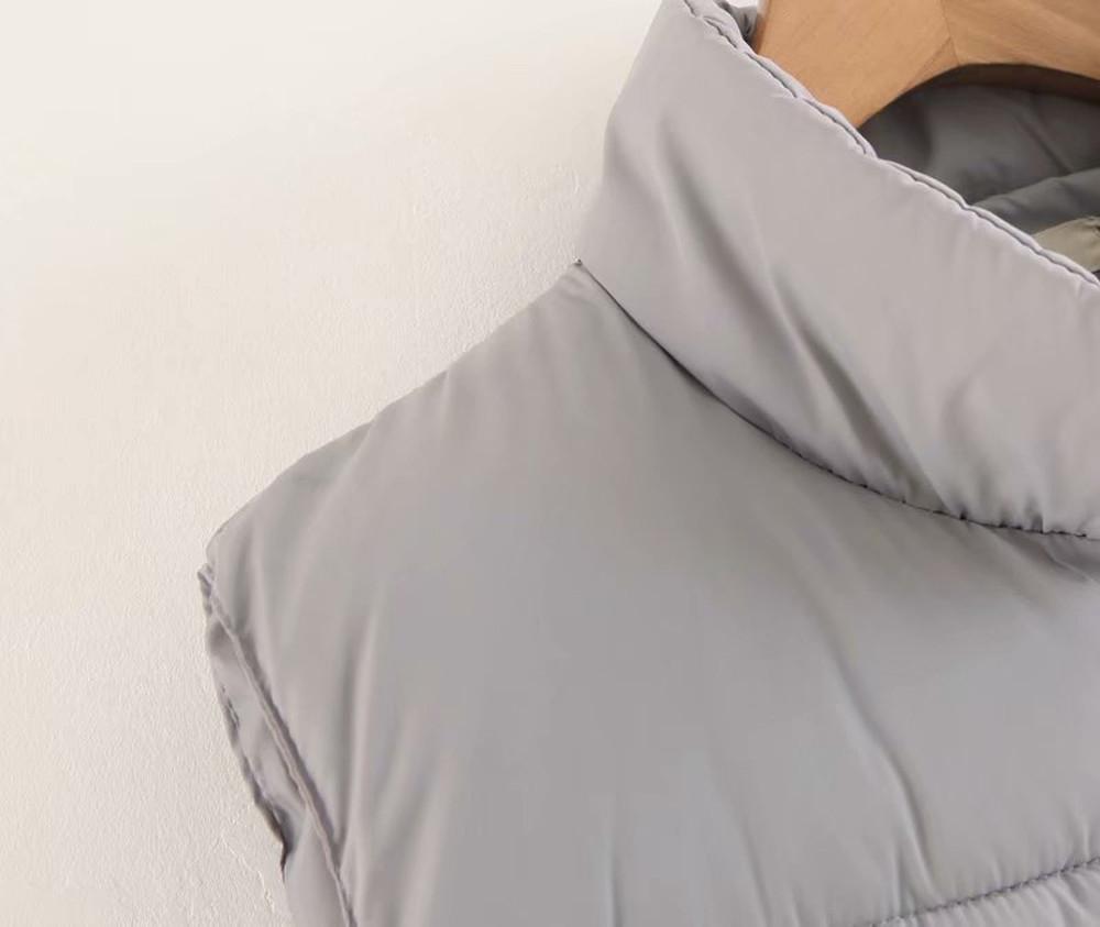 Jaycosin 2019 Female Casual Winter Warm Outdoor Stand Neck Down Waistcoat Pockets Thick Comfortable Sleeveless Jacket Coat 116#5