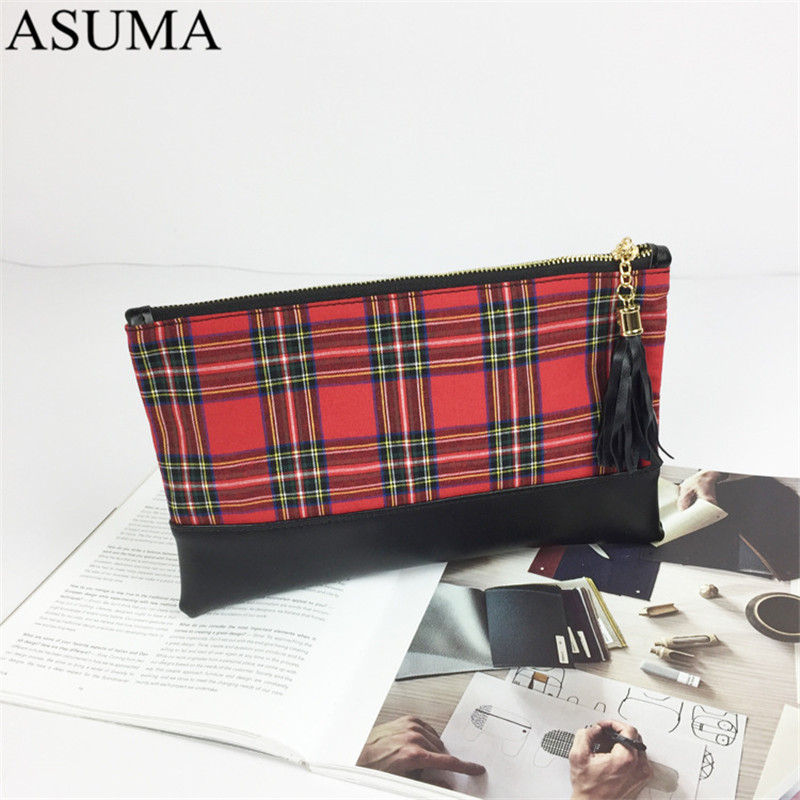 plaid canvas clutch (1)