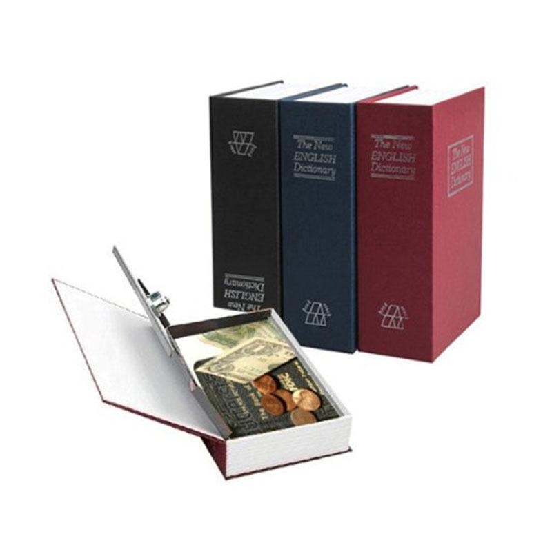 4 couleurs clé dictionnaire de sécurité moyen livre coffre-fort / serrure boîte / stockage / tirelire créatif tirelire maison accessoires Q190606