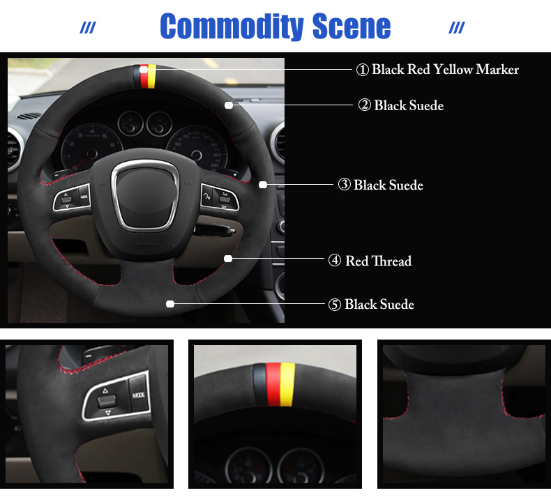 for Audi A5 steering wheel cover