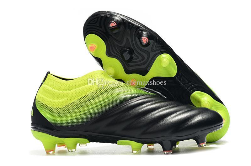2019 New Mens Copa 19+ 19.1 Fg Ag 19 + x 19 Hot Slip-on Champagne Solar Red Fútbol Fútbol Zapatos Botas Scarpe Calcio Tacos baratos Tamaño 39-45