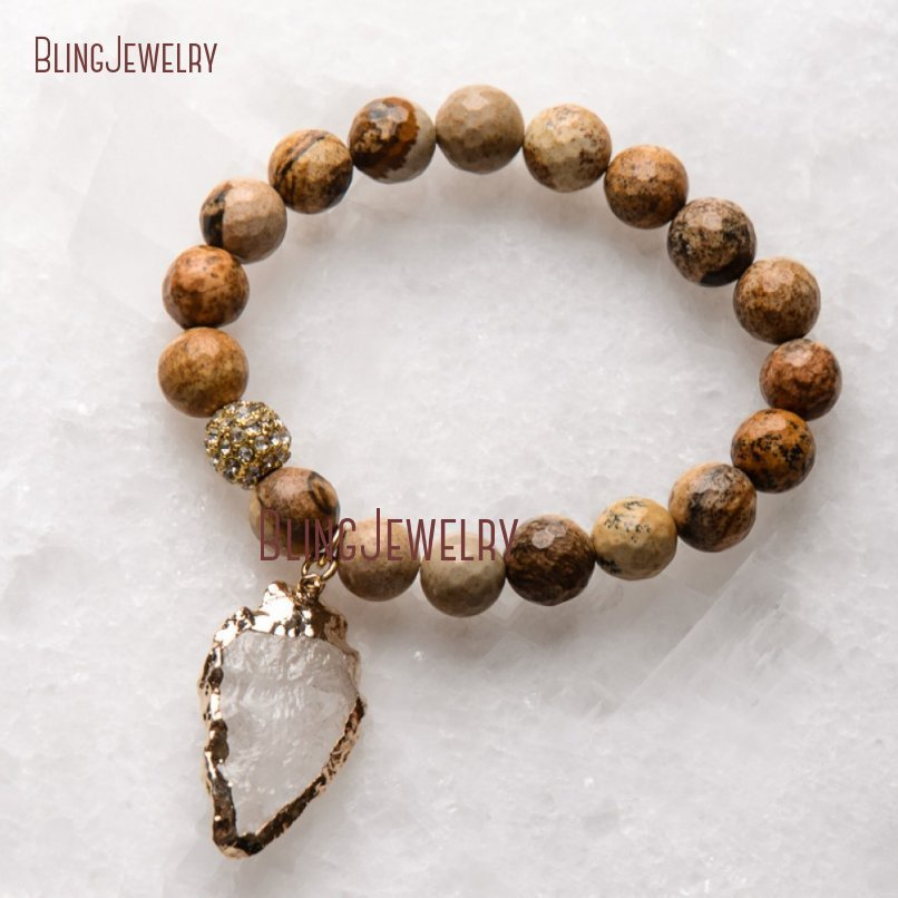 20181201-BM17426-Latest Arrowhead Clear Crystal Bracelet On Sale_33