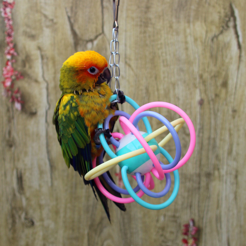 Parrot Hand Catch Grinding Mouth Rubber Ball Food Level Silica Gel The Ball To Climb Chew Toys Pets Articles