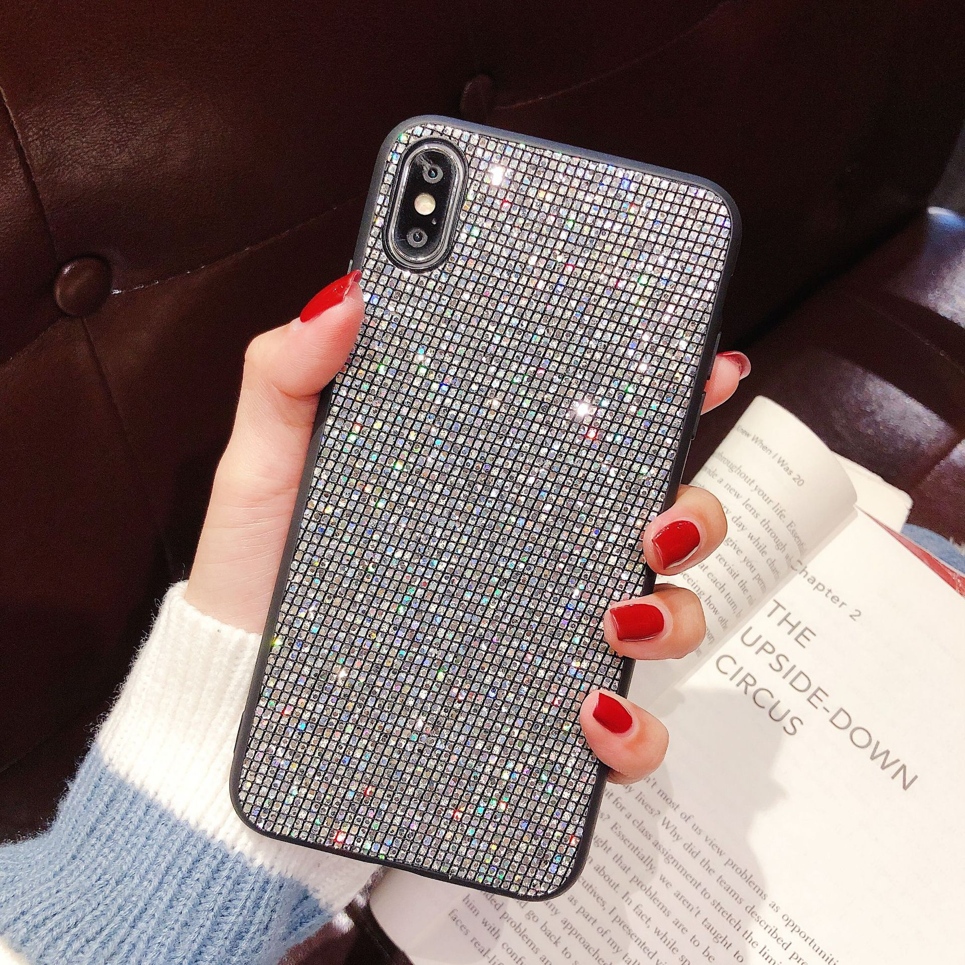 fashion luxury full diamond cellphone case cover for iphone 6/6s 7/8 plus x/xs xr xs max nice gift best price