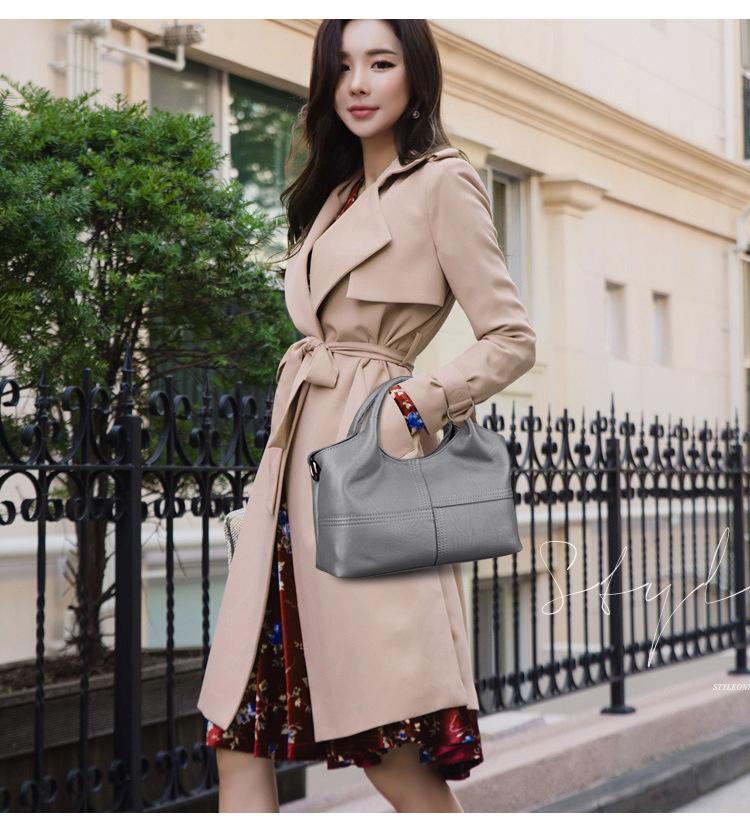 Sacs en cuir en peau de mouton Lady Patchwork Crossbody pour femmes sacs à main en cuir véritable sac fourre-tout femmes Messenger sacs Y19061705
