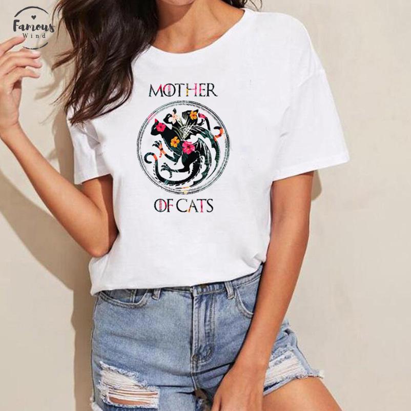 Para Hombre Divertido Camisetas Impresas-madre de Gatos Juego de Tronos Inspirado-Regalos