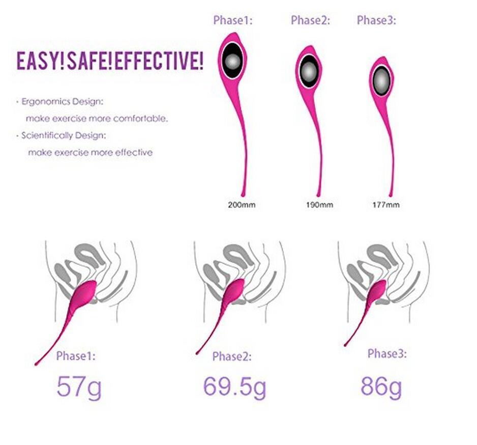Safe Silicone Kegel Smart Vagina Tighten Exercise Ben Wa Machine Vibrators Vaginal Geisha Ball Sex Toys for Woman C18112301