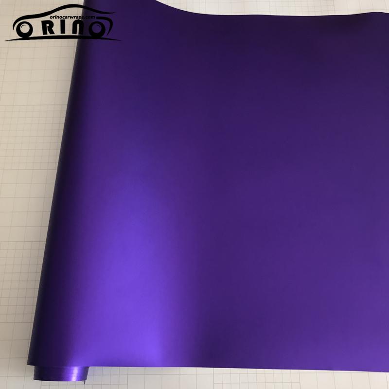 Purple Matte Metallic Chrome Vinyl Film Wrap-6