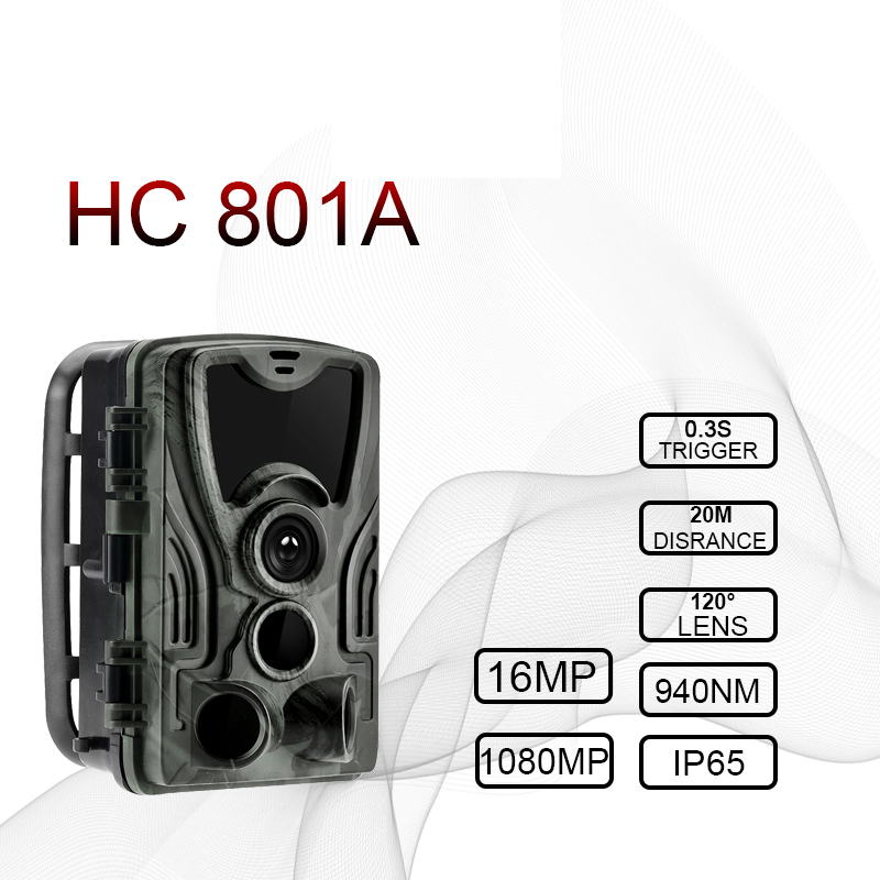 HC801A Caccia Camera Trail Camera Night Versione 16MP IP65 Foto naturalistiche trappole GSM mms 0.3s Trigger hunt Camera Chasse Scout