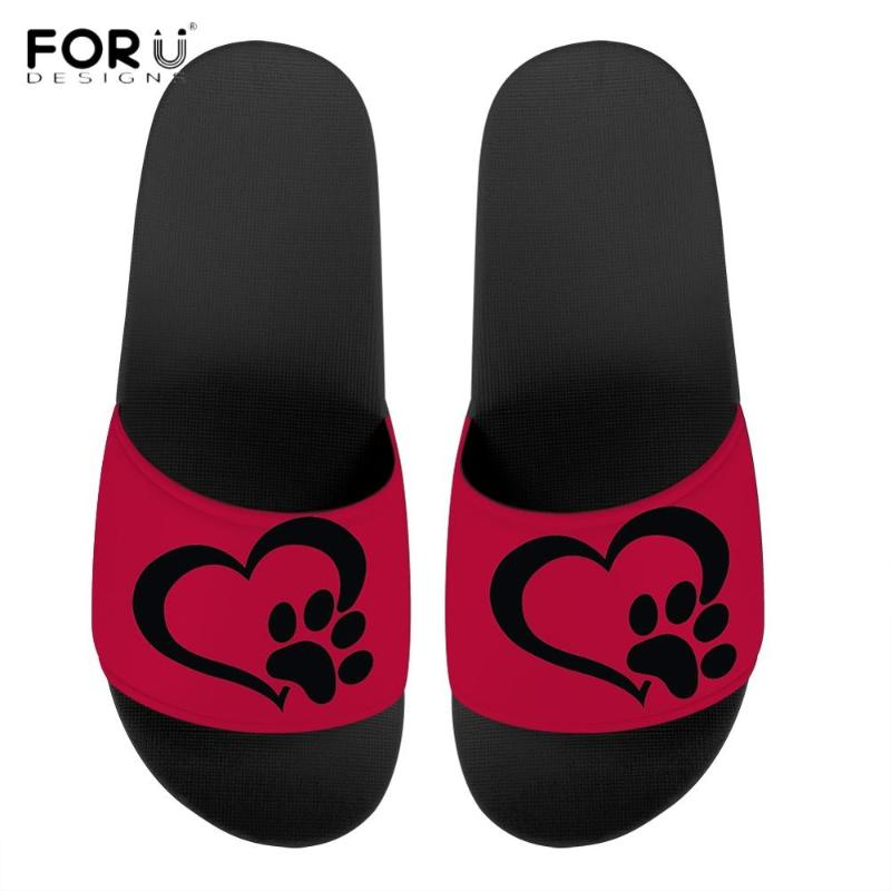 Funny Christmas Pug with Red Hat Summer Slide Slippers For Men Women Kid Indoor Open-Toe Sandal Shoes