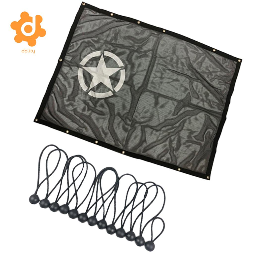 59x45 Inch Roof Mesh Shade Anti-UV Protector for Jeep Wrangler JK 2//4 Door