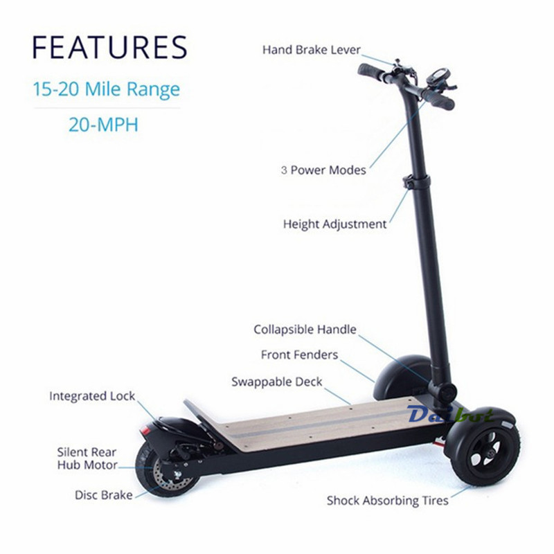 Daibot Electric Scooters Adults 3 Wheels ES Board Self Balancing Scooters 450W Brushless Motor Kids Foldable Electric Skateboard (2)