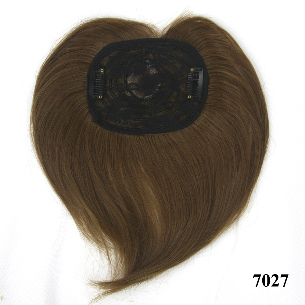 High Temperature Fiber Synthetic Hair Toupees Hairpieces Straight Top Hair Closures For Men And Women