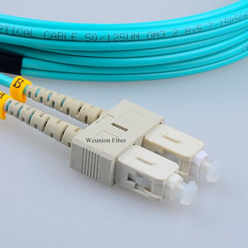 10//16ft LC-LC Duplex Dual Core Multimode Fiber Optic Patch Cable Jumper Wire