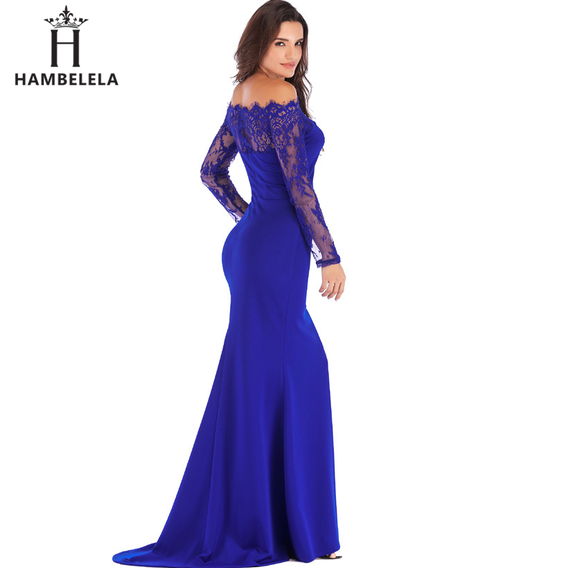 HAMBELELA Robe De Soiree Longue Long Sleeve Mermaid Evening Dresses Formal Evening Gowns China Vestido Longo Bodycon Lace Dress (7)