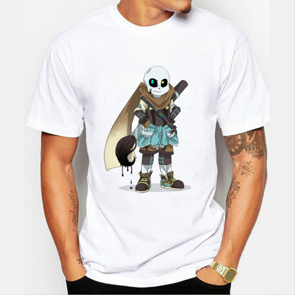 Animation Skull Undertale Latest Game Short Sleeve Men Hip Hop T Shirt Tee Shirts