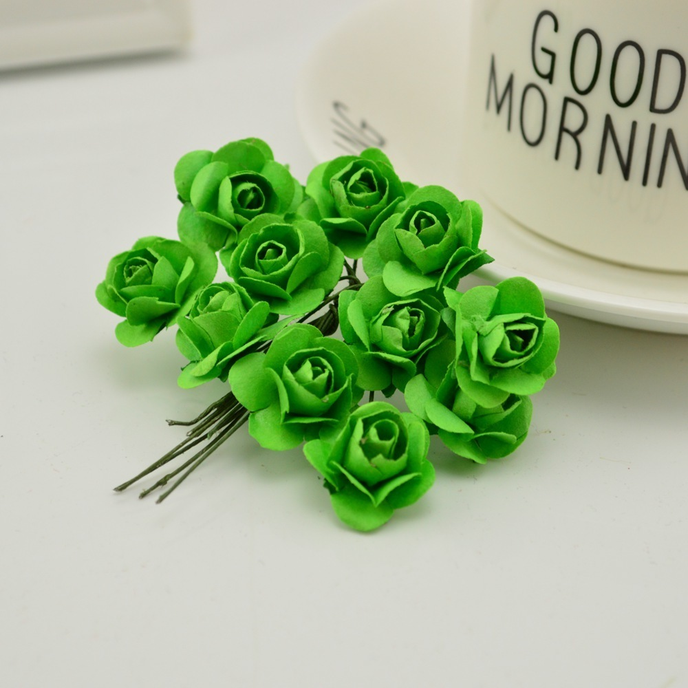 144pcs-1cm-cheap-Artificial-Paper-flowers-for-Wedding-car-fake-Roses-Used-For-decoration-Candy-box(13)