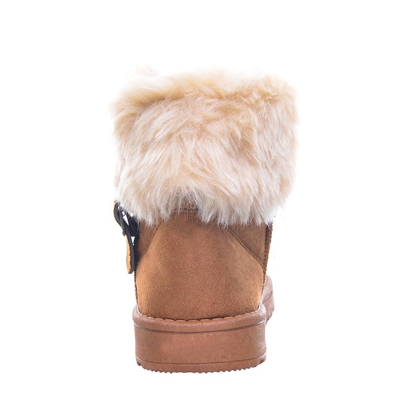 Women Boots Warm Fur Cotton Winter Shoes High Quality Cozy Women's Soft Ankle Snow Boots Flat Shoes Woman