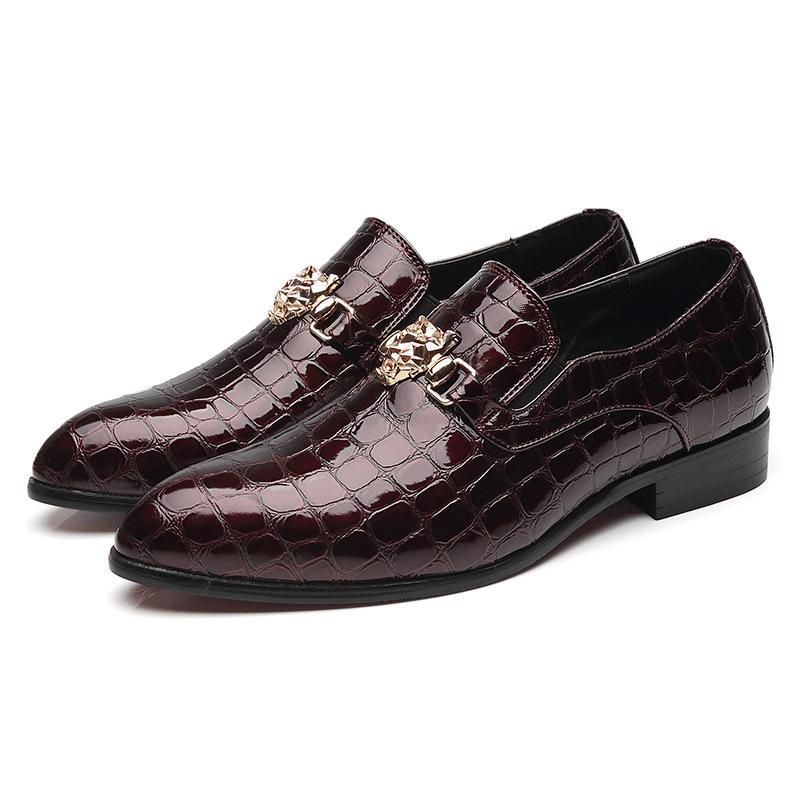 1Nuova lusso grano del coccodrillo Slip-on Scarpe da uomo Oxfords modo casuale Abito scarpe punta aguzza di nuovo disegno Dropshipping grande formato 48