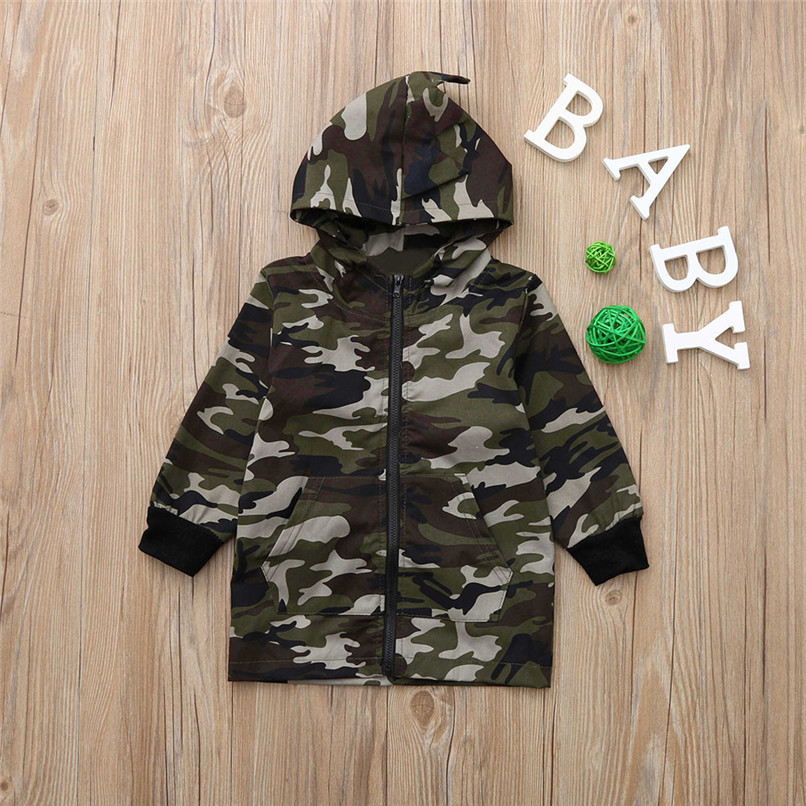 Winter Coat For Kids Toddler Kids Baby Boy Camouflage Long Sleeve Dinosaur Hooded Windproof Tops Coat Clothes Kids Clothes O10#F (7)