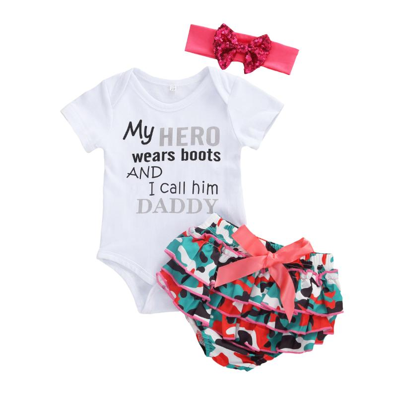 callm Infant Baby Girl Clothes Turkey Thanksgiving Day Letter Print Top Pant Hat Set