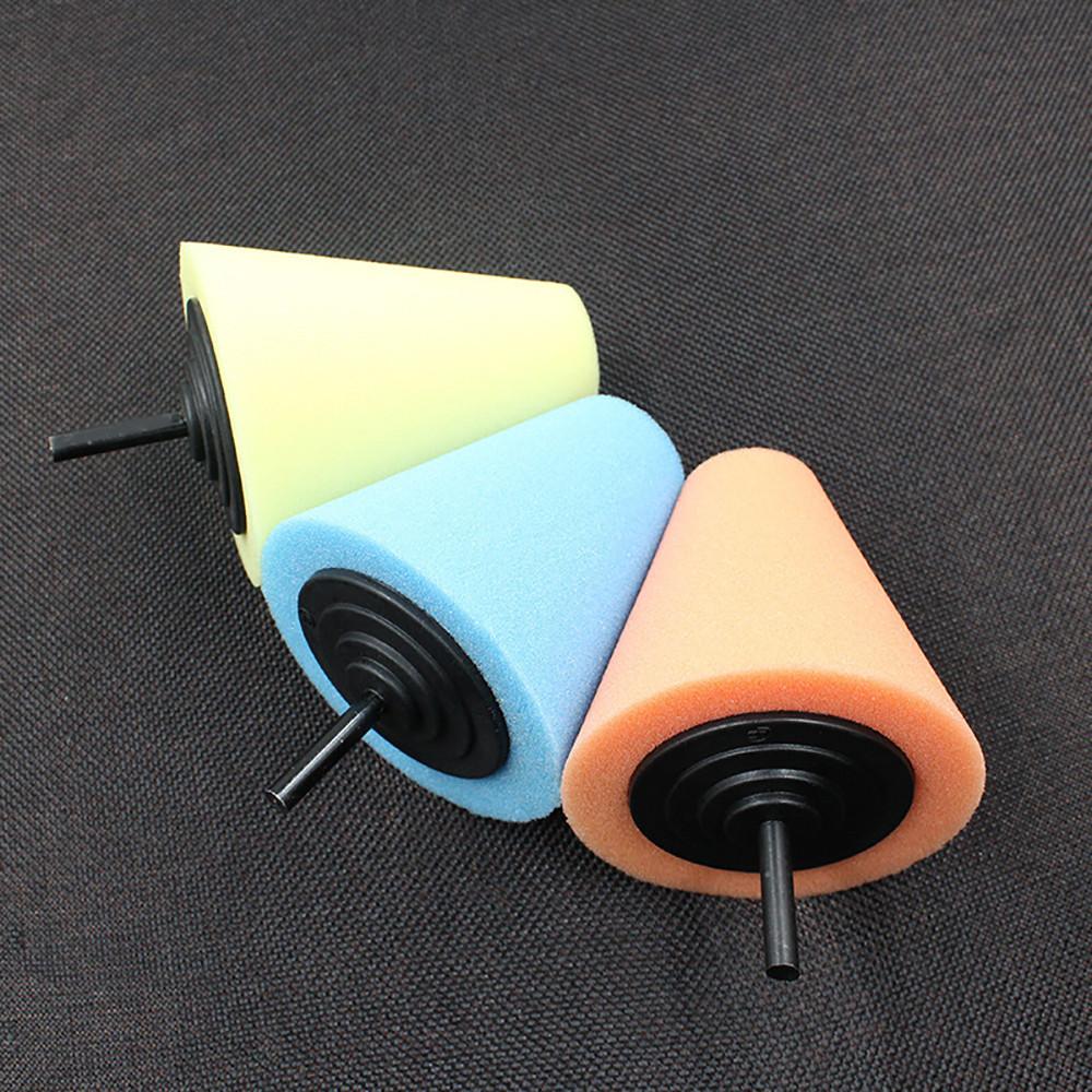 Wheel Hub Polish Buffing Shank Polishing Sponge Cone Metal Foam Pad Car 6MM GA