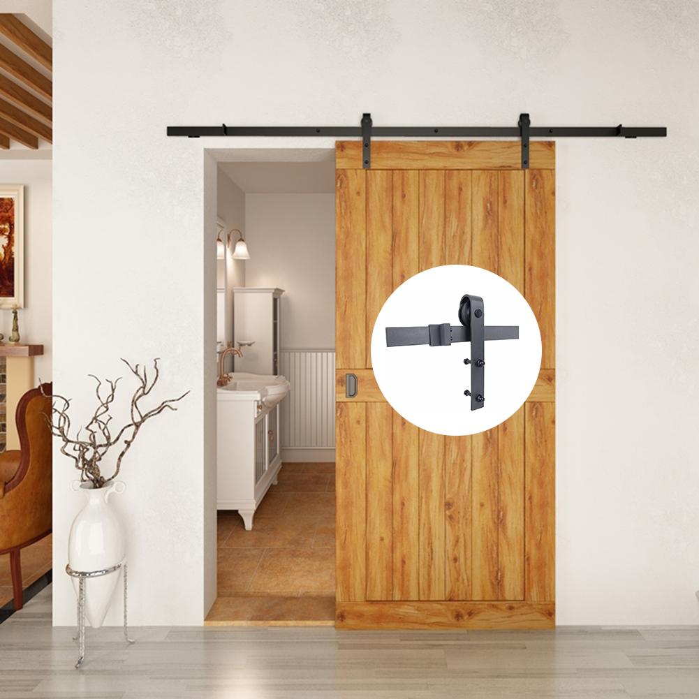 Vieille Porte En Bois Coulissante 4.9ft / 6ft / 6.6ft antique style acier au carbone pays en bois de grange  coulissante kit de quincaillerie pour portes
