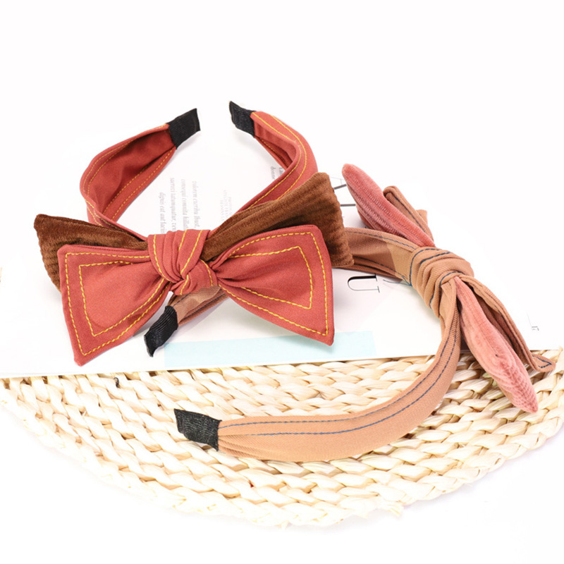 4 kontted hair bows