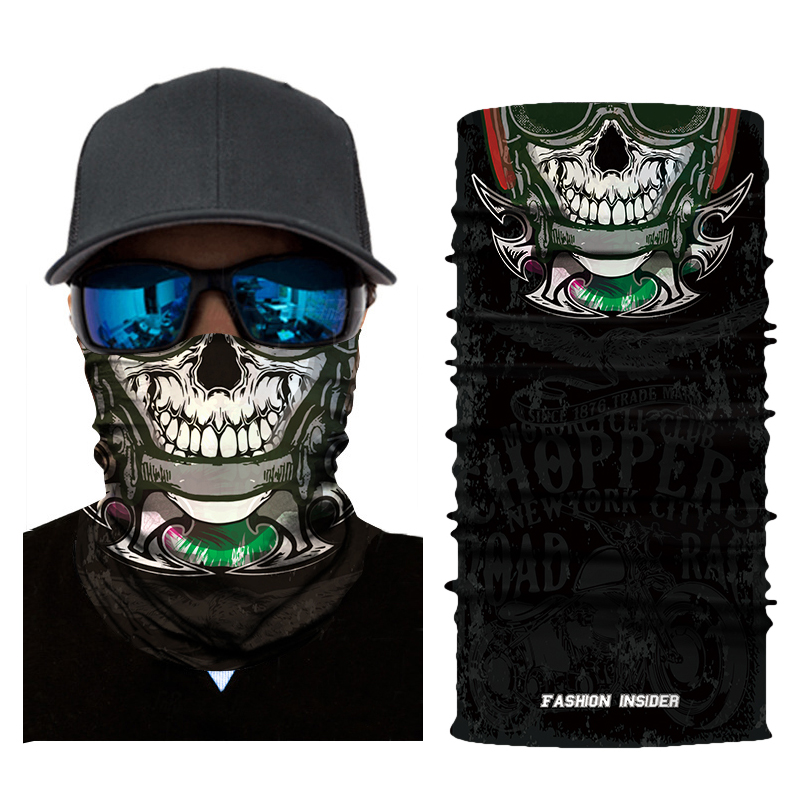 Magic Scarf Biker Skeleton Ghost Skull Face Mask Costume Halloween Cosplay Props