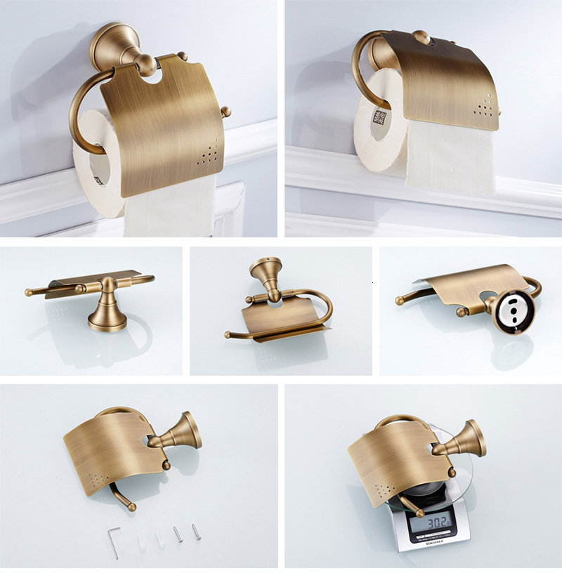 antique creative paper holder for bathroom toilet