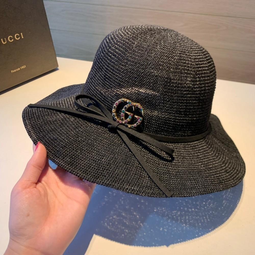 Guc Большие соломенные навесы из соломенной шляпы женская шляпа из карниза моды самых продаваемых хлопка и конопли трикотажные зонтик шляпа волна складной край