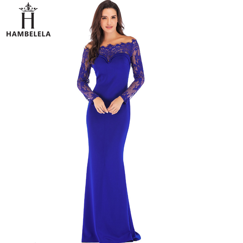 HAMBELELA Robe De Soiree Longue Long Sleeve Mermaid Evening Dresses Formal Evening Gowns China Vestido Longo Bodycon Lace Dress (1)