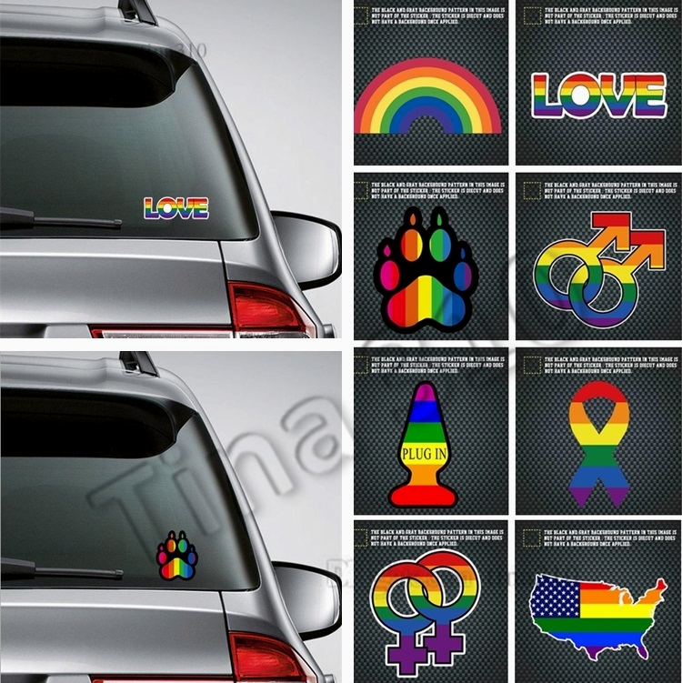 We Bare Bears gay pride cartoon Sticker decal car laptop cute