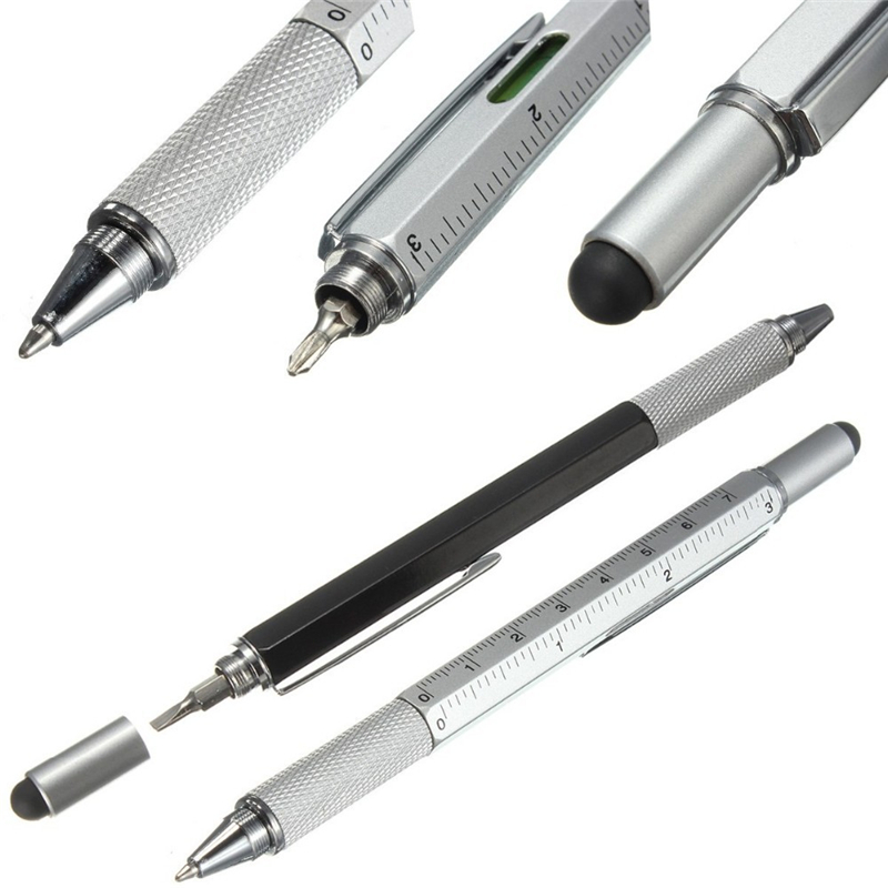 Tool Ballpoint Pen Screwdriver Ruler Spirit Level With A Top And Scale Multifunction Metal&Plastic