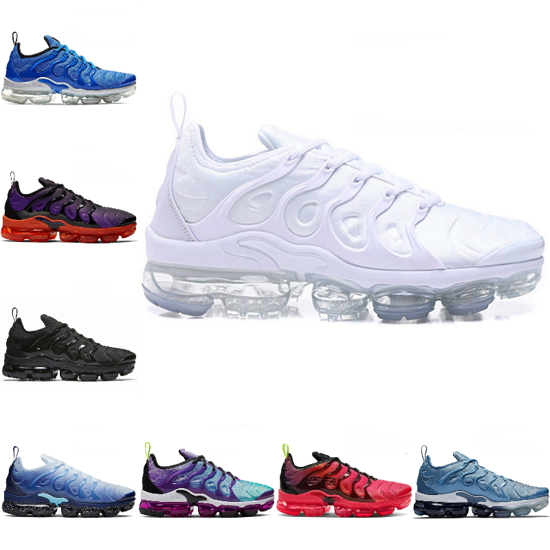 2020 Nike air max Vapormax Tn plus New airmax Tn flyknit course Persian Violet Marine Midnight Royal Game Triple Designer femmes Chaussures de sport