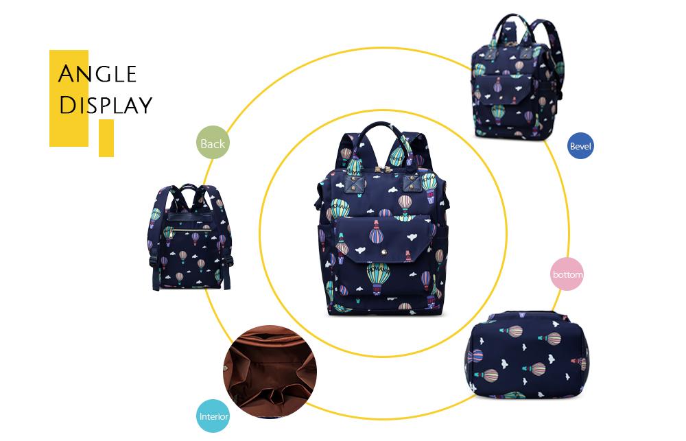 Diaper Bag Cute Pattern Waterproof Large Capacity Mother Women Backpack (1)