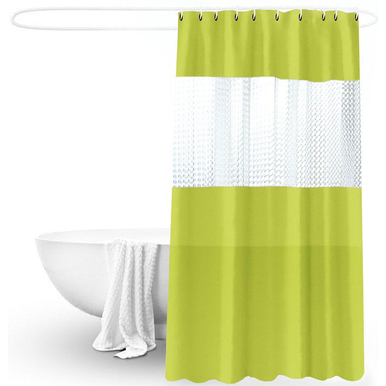 Damask Black /& White Peva 180x180cm Shower Curtain Jacquard Water Repellent