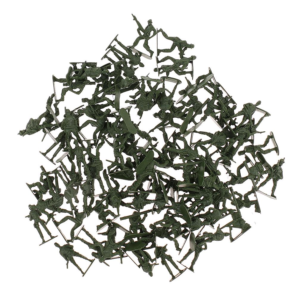4 cm Seconda Guerra Mondiale soliders figure Esercito Uomini Play Set-Confezione da 240 Marrone e Verde