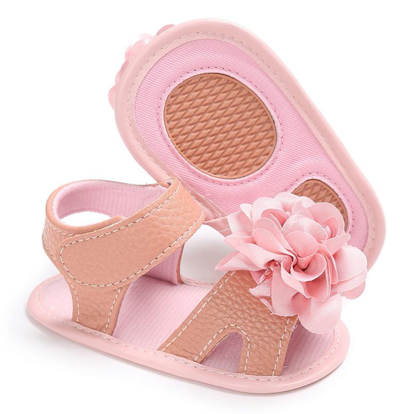 Summer Girls Sandals Toddler Newborn Baby Girl Crib Shoes Flower Soft Sole Anti-slip Sandals NDA84L24 (23)