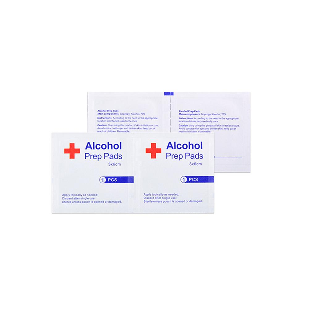 100pcslot Alcohol Prep Swap Pad Wet Wipe For Antiseptic Skin Cleaning Care Jewelry Mobile Phone Glasses Clean Tool Alcohol Pads (10)