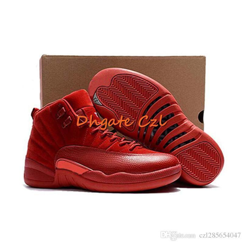 2019 12 Gym Red Basketball Shoes Vachetta Tan Wings International Flight Michigan Taxi Men Designer Sport Shoe The Master Sneaker
