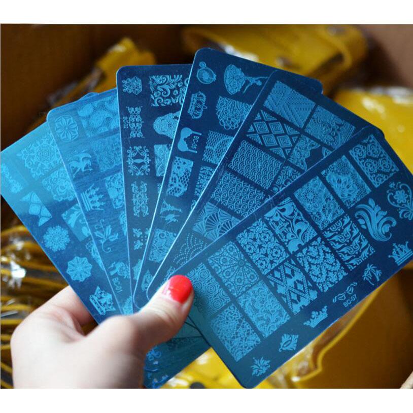 10Pcs Nail Plates Nail Art Stamper Stamping Template Image Plates Nail Stamp Plate Tool will send out at random Free Shipping