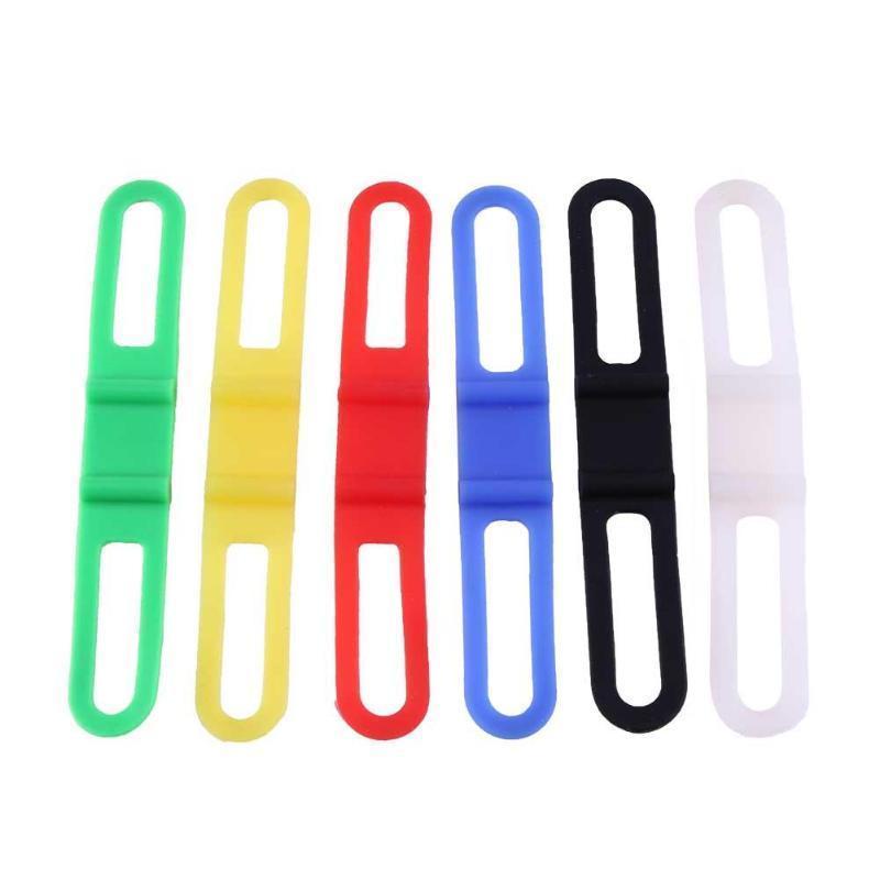 Fahrrad Silikonband Torch Telefon Taschenlampe Bands Elastische Bandage Fahrrad Licht Halterung Fahrrad Zubehör