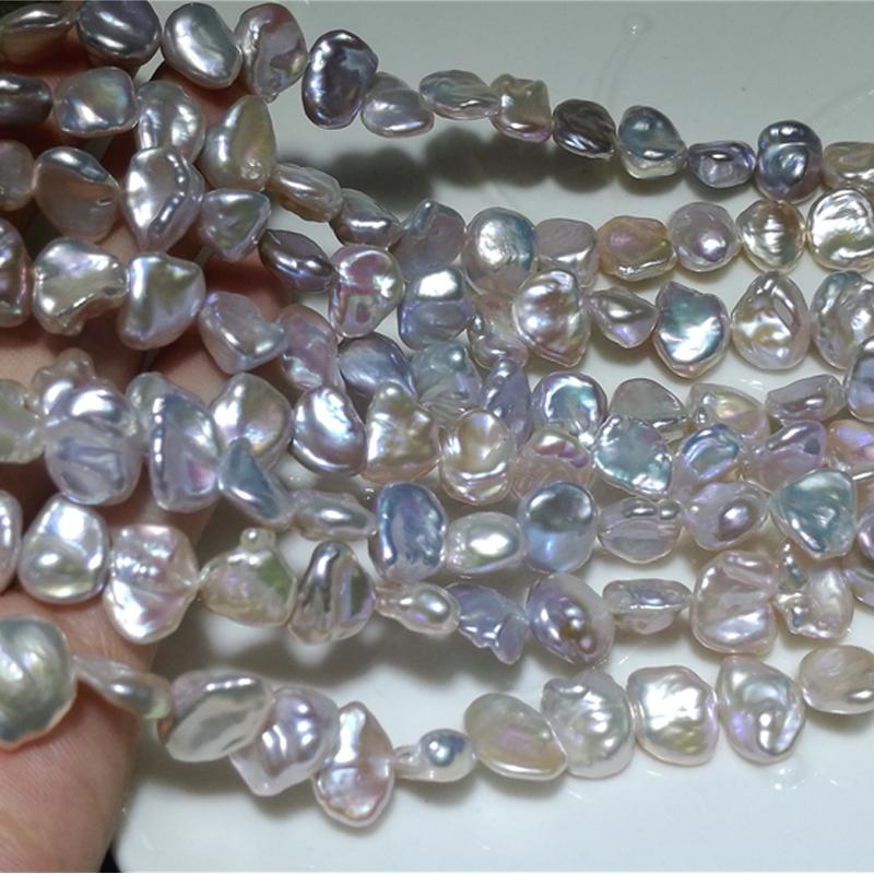 """1 filamento negro natural de agua dulce perla espaciador granos flojos joyería 14.5/"""" 8-9 mm"""