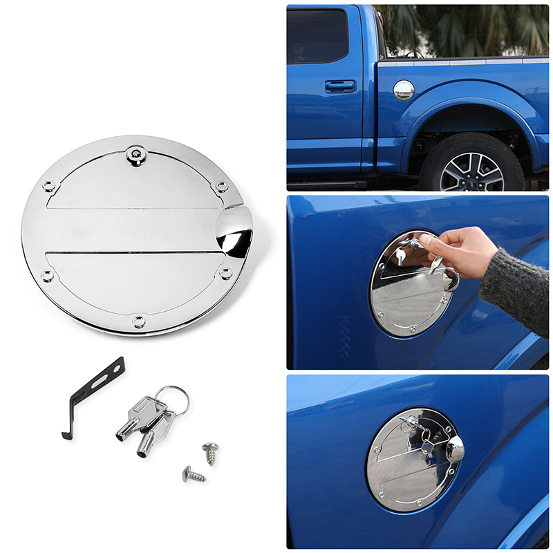 For Ford F250 SUPER DUTY 2011 2012 2013 2014 2015 2016 Chrome Gas Door Cover 1PC