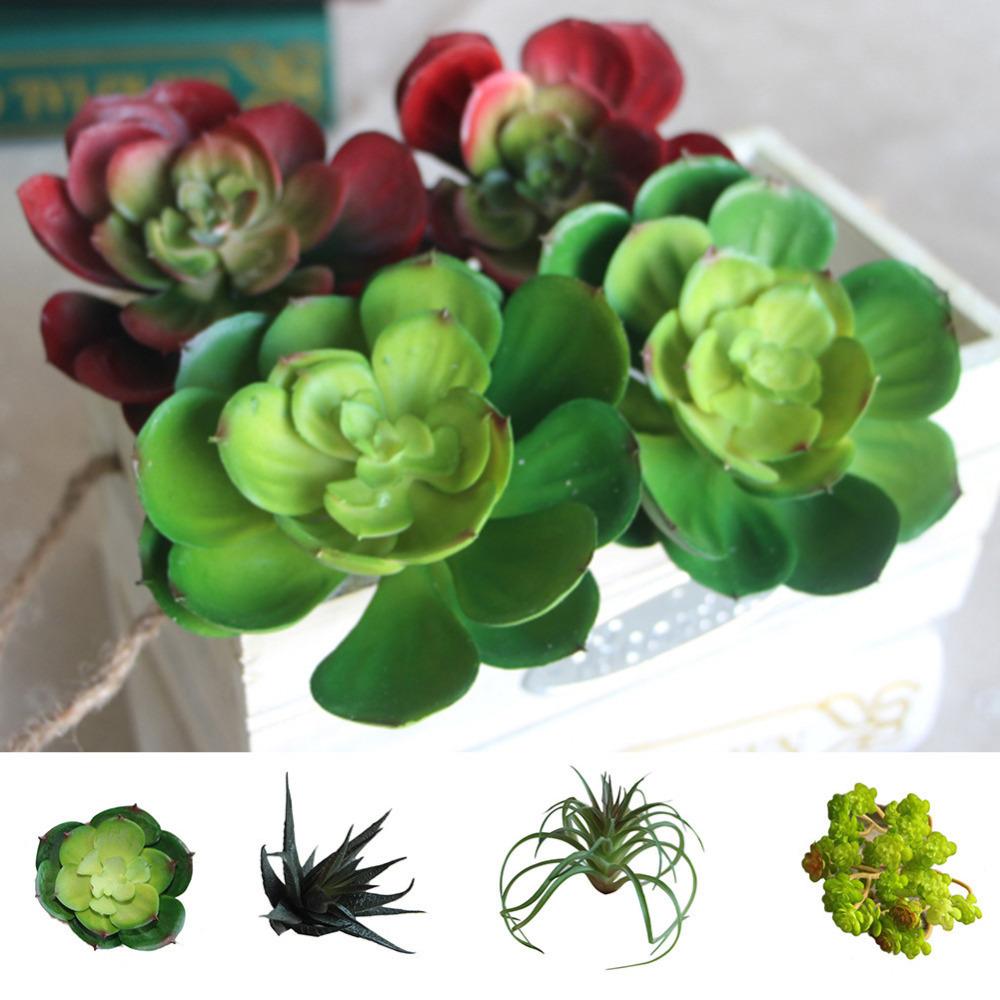 Succulents Land Lotus Plants Grass Desert Artificial Landscape Plant Fake Flower Arrangement Home Garden Decor C19041702