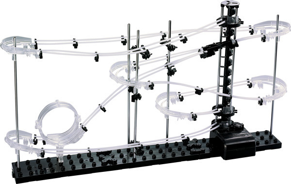 Space Rail Level 1 DIY Educational Toys For Kids Physics Space Ball Rollercoaster Powered Elevator 5000mm Model Building Kits Y190530