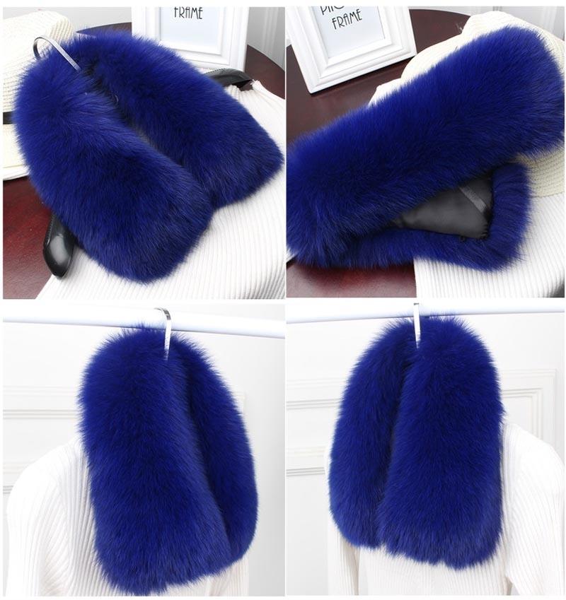 fox fur collar royal blue2