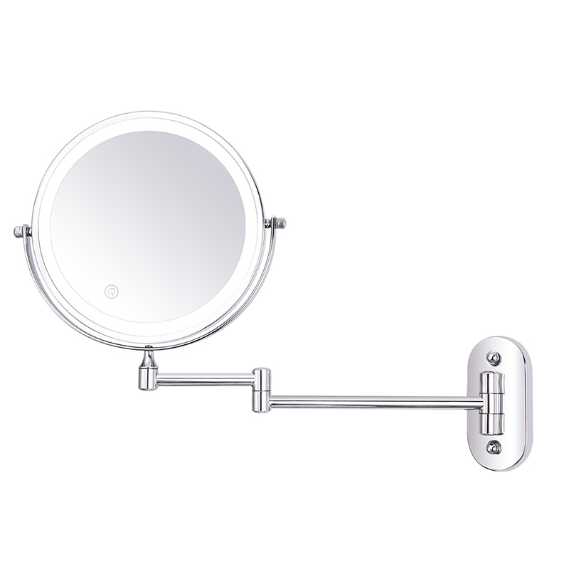 8 inch Wall Mounted Led Makeup Mirror 10X Magnifying Touch Bright Adjustable Bathroom Wall Mirrors Double Sided Vanity Mirror 06